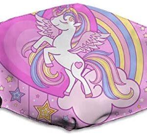 Máscara lavable a prueba de polvo de Houity, un unicornio blanco de color ...