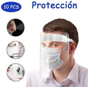 Máscara protectora Transparente HD Anti-gotita Niños Cara completa Más ...