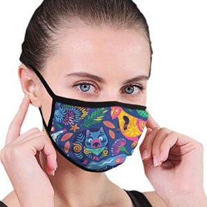 Máscaras decorativas con animales australianos en colores brillantes ...