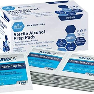 MEDca Alcohol Prep Pads, Estéril, Mediano, 2-Ply PACK OF 200