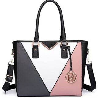 Miss Lulu Bolso tote para mujer Lady Tote Multicolor Piel sintética ...