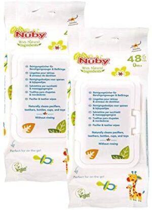 Nûby Toallitas Chupete y Mordedor -96 piezas