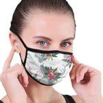 N / A - Conjunto de máscara de boca, coloridas flores de Navidad, Unise ...