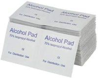 Pegcduu 100PCS / Set hisopos de maquillaje portátiles con almohadillas de alcohol t ...