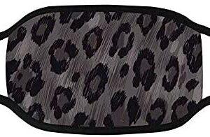 Piel de leopardo Máscara de boca inferior Tela transpirable a prueba de polvo ...