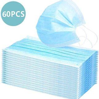 Protectores faciales desechables de tres capas, anti-salpicaduras, ...