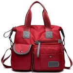 SODIAL Red New Bag Ladies Fashion Impermeable Oxford Bag ...