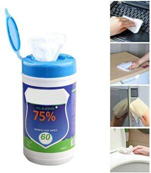 Toallitas de limpieza globalqi, 60 hojas / paquete de limpieza de manos ...