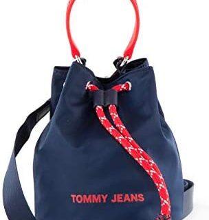 Tommy Jeans - Bolso para mujer (nylon, correa extraíble), color azul
