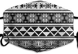 UHSKK Tela de algodón Máscara africana y mexicana Azteca Tribal Ame ...