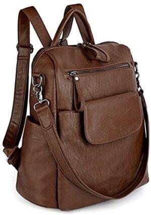 UTO Mujer Lady Mochila Bolsa Faux Leather School Bag 3 Hombre ...