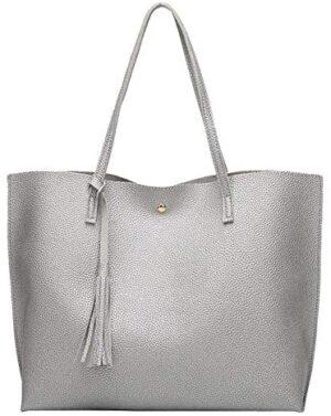 dragonaur - Bolso mochila  para mujer Large, color plata, tamaño Large