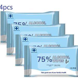 40 piezas de toallitas con 75% de alcohol para desinfectar las manos, ...