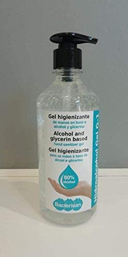 GEL HIDROALCOHOLICO HIGIENIZANTE ANTISEPTICO MANOS 500ML 80% ALCOHOL B...