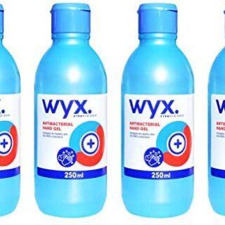 Gel Hidroalcohólico WYX 4 x 250ml con Alcohol. Indicado para desinfección ...