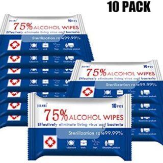 Paquete de 10 toallitas desechables portátiles toallitas húmedas con 7 ...