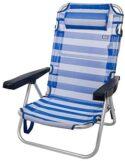 Aktive 53955 Silla Plegable multiposición Aluminio Beach, 108 x 60 x 8...