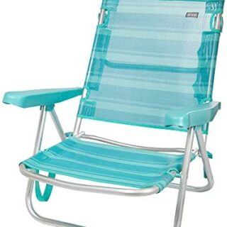 Aktive 53962 Silla multiposición aluminio Beach, 108 x 60 x 78 cm