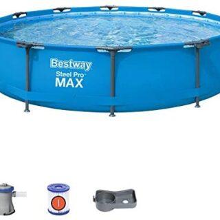 Bestway 56416 – Steel Pro Max – Piscina exterior redonda, 366 x 76 cm,...
