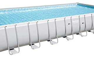 Bestway 56936 – Piscina elevada Power Steel rectangular, incluye base,...