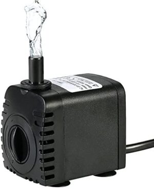 Bomba de Agua Sumergible,Decdeal 600L/H 8W Water Strider - con 2 Boqui...