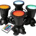 GreenSun Focos de interperie sumergibles, 4 in 1 RGB Focos de exterior...