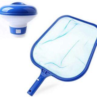 Kungfu Mall Kit de limpieza de piscina, flotador químico de piscina y ...