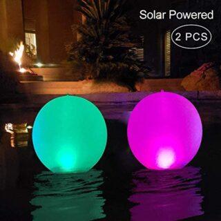 Luces Solares Inflable,Luz LED para Piscina,Luces Solar para Exteriore...