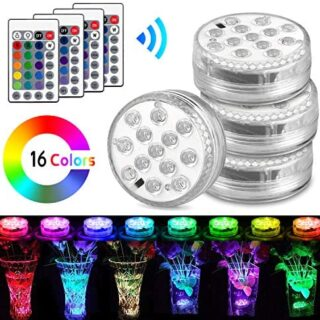 Luces Sumergibles, AODOOR Luz LED Impermeable, RGB Multicolores LED Lu...