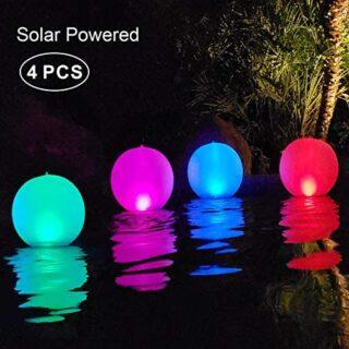 Luz Solar de Jardín,LED Exterior Solar de Globo IP68 Impermeable Luces...