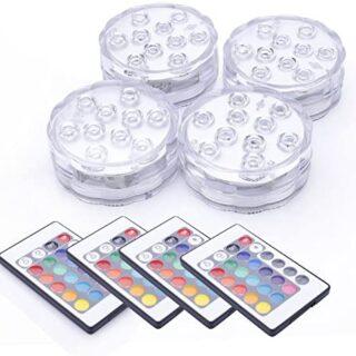 Luz sumergible, Tiray Ledy Cambio de Color RGB Multi agua densidad LED...
