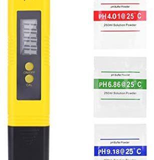 Medidor Ph Agua Preciso, Calidad del Agua Medidor de Prueba con Rango ...