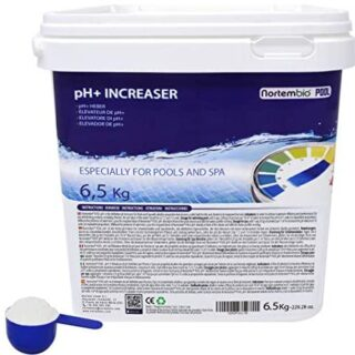 Nortembio Pool pH+ Plus 6,5 kg, Elevador Natural pH+ para Piscina y SP...