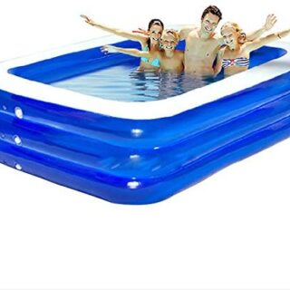 Rectangular Inflable Piscina Familia Espesada Plegable Plegable Adulto...