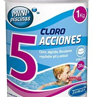 Tamar - Cloro 5 Acciones, Tabletas Multifuncion de 20 grs, Especial pa...