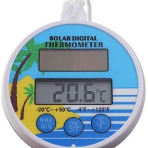 Termómetro Digital para Piscina con energía Solar