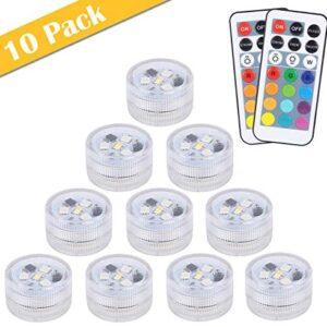 10 pcs Sumergible Luces Luz, ALED LIGHT LED Luces Subacuáticas Imperme...