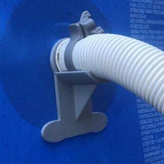 2 Soportes para tuberías de Piscina. Gris sostiene tuberías de 30 mm a...