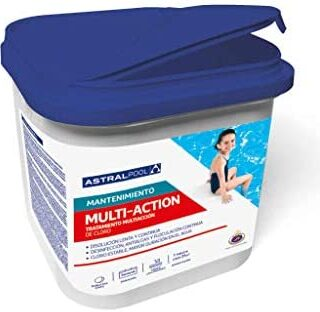 Astral Pool Cloro para Piscina multiaccion (Multifuncion) 5kg, tableta...