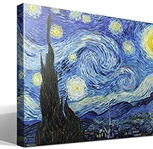 Cuadro Canvas La Noche Estrellada de Vincent Willem Van Gogh - Calidad...