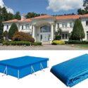 Cubierta de piscina rectangular 300 200CM- Rectangular- Poliéster Pleg...