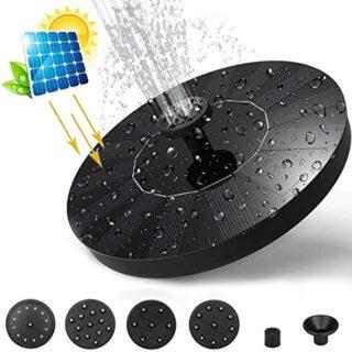 Eficiente Fuente Solar Bomba, Solar Panel Flotador Fuente con 5 boquil...
