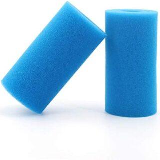 Filtro de espuma para piscina (2 unidades, reutilizable, lavable, Inte...