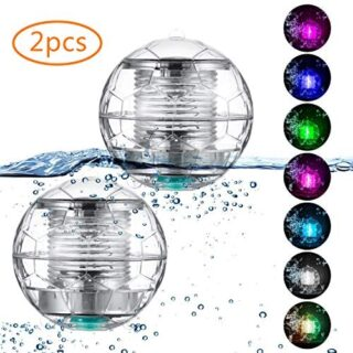 Herefun 2 Pack Luz Solar Flotante, Luces LED Flotantes Solares, Luz So...