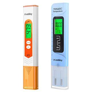 Homtiky Medidor pH, Digital Medidor TDS Temperatura EC 4 en 1, Probado...