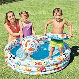 Intex 59469NP - Piscina, flotador y pelota de 51 cm, 132 x 28 cm, 248 ...