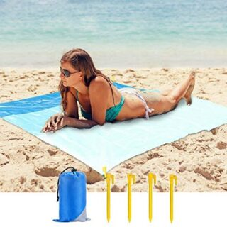 Mafiti Manta Impermeable de 210 x 200cm. Ideal para playa, Picnic, aca...