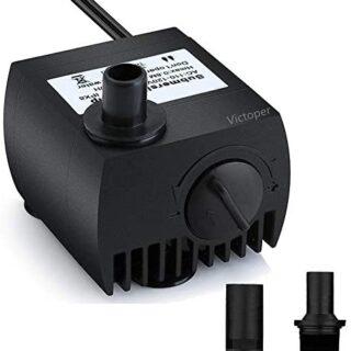 Maxesla Mini Bomba de Agua Ultra Silencioso 300L/H Bomba Sumergible 3W...