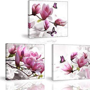 Piy Painting Cuadro en Lienzo del Hogar Flores Mariposa Orquídea Flore...