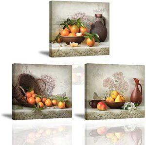 Piy Painting Cuadro en Lienzo en Cosecha de Fruta Naranja Pinturas mur...